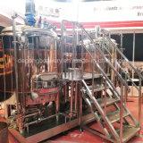 500L de cobre vermelho 2 navios de depósito de fermentação de brassagem equipamento de fabrico de cerveja