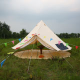 Glamping kampierendes Zelt-Familien-Baumwollsegeltuch-Luxuxrundzelt