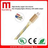 Micro Data Cable cargador de teléfono móvil Smartphone el cable USB cable de datos--El Oro con gris