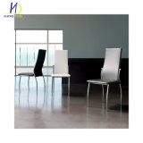 High bake Durable Powder Coated Frame Dining Leather Kitchen Chairs