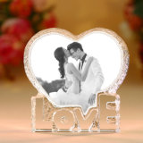Cadres de photo en cristal cristallin bon marché pour cadeau de festin d'anniversaire et de mariage