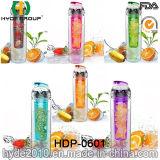 бутылка воды 750ml Tritan Infuser, BPA освобождает пластичную бутылку воды вливания плодоовощ (HDP-0601)
