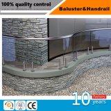Edelstahl-Balkon-Glasgeländer-/Glasbalkon-Balustrade mit amerikanischem Standard