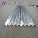 Feuille en acier ondulée galvanisée plongée chaude de toiture de Dx51d