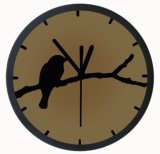 12'' 3D Bird Wall Clock in Aluminium (T6013)