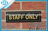 주문 방수 옥외 사용 경고 플라스틱 스티커