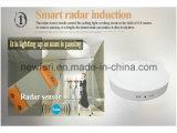 225mm cuadrados de techo LED de luz con sensor de radar