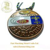カスタムハンガーの円形浮彫りのドイツのスポーツの硬貨の金属3D賞メダル
