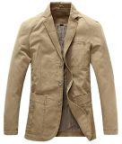 Rivestimento del vestito della saia del cotone allineato banda a tre pulsanti casuale degli uomini Xiaolv88