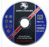 """금속 4.5 """" X5/128 """" X7/8 """"를 위한 매우 얇은 절단 디스크"""