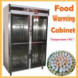 خزانة تدفئة الطعام في الأبواب الزجاجية