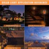 96LED imprägniern blinkende Solarflamme-Lampen-Weihnachtsdekoration