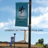 Corchetes al aire libre de poste de la bandera de la columna de publicidad de la calle (BT106)