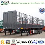 De Semi Aanhangwagen van de Staak van het Type van Omheining van Shengrun voor Vervoer van de Lading stortgoed
