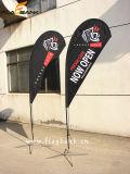 bandiera di volo di stampa di promozione di evento di 2.8m doppie/bandierina laterali di alluminio del Teardrop