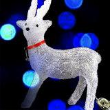 아크릴 동물성 만드는 크리스마스 장식적인 LED 3D 조각품 빛