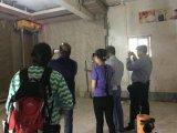 جدار [سكريدينغ] لصوق آلة لصوق الإنسان الآليّ
