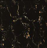 Telhas de assoalho cerâmicas vitrificadas completamente lustradas pretas da porcelana da cor (WG-6Y312)