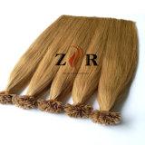 カラー14自然な引かれたインドの毛の平らな先端のPrebondedの毛のRemyの毛