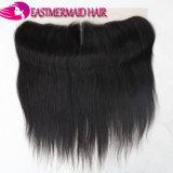 Fechamento do Frontal do laço do cabelo de India