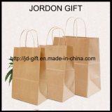 Les achats de nourriture de papier de Brown emballage portent le sac