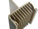 Aluminio extruido OEM Disipadores de calor con oro anodizado