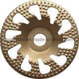 Spirale bouton Arix roue de la Coupe du diamant pour le béton le meulage (vide) de brasage