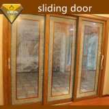 Алюминий сползая двойную стеклянную дверь с ISO9001