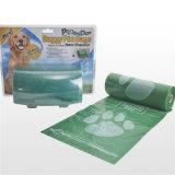 Venda por grosso de embalagens plásticas biodegradáveis cocô de cachorro saco de resíduos