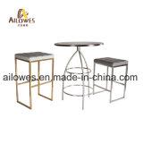 Barre de métal mobilier PU siège repose-pieds en acier inoxydable Gold Bar Tabouret Haut