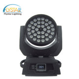 36pcs RGBWA Rondelle LED Déplacement de la lumière de la tête pour le parti mariage