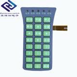 Custom Silk-Screen/ l'impression numérique des superpositions graphiques commutateur clavier à membrane avec dos adhésif