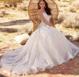 Plus la taille de la mariée robes de mariée A-Line Tulle Sweetheart Glistter dentelle robe de mariée L2087