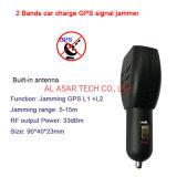 2 Bandes Mini chargeur de voiture GPS L1 Anti tracking signal brouilleur L2