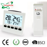 L'hygromètre LCD température intérieur/extérieur sans fil de l'humidité compteur avec rétroéclairage et d'alerte d'alarme