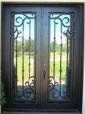 Дверь ковки чугуна безопасности с красивейшей работой переченя