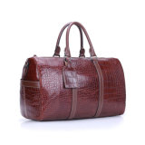 2017 коричневый цвет Croc печать в режиме реального хода Duffel кожаные сумки