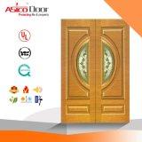 Feste hölzerne Tür-dekorative Entwurfs-Einstiegstür