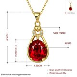 Pop nam Elegant van Euramerican de Gouden Juwelen van de Halsband van Zircon van de Vorm van de Daling van de Halsband toe
