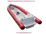 Barco de pesca inflable el 10.5m rígido de China Aqualand los 35FT/barco del salto de la costilla/bote patrulla militar (RIB1050)