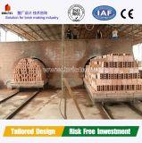 Four à tunnel brûlant de brique d'argile de grande capacité