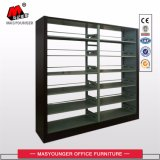 Double-Sided Double Column Library Furniture Aço Bookshelves