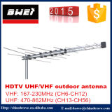 32e de UHFAntenne van TV van VHF voor de Markt van Togo Mauritius Fiji