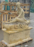 Sculpture en marbre antique sculptée Statue en pierre de sculpture pour décoration de jardin (SY-X1165)