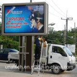 PVC al aire libre que hace publicidad del rectángulo ligero del centro de la estación de servicio de Pedtrol de la cartelera de la bandera LED del cartel
