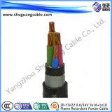 Zr-Yjv22 0.6/1kv 3 x 16 + 1 x 10/BT/ignifuge/câble d'alimentation