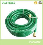 Le plastique PVC tressé en fibre de jardin d'approvisionnement en eau souple flexible du tuyau de douche
