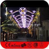 De openlucht LEIDENE van de Straat van Kerstmis Commerciële DwarsLichten van het Motief voor Vakantie