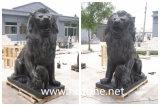 새겨진 대리석 사자 돌 사자 대리석 동물성 돌 동물