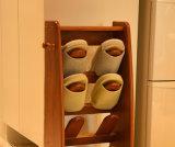 Pé de madeira sólida parasitológico de fezes moderna sala de estar nas fezes (M-X2063)